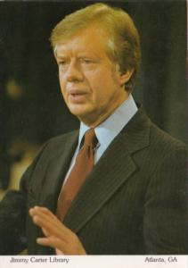 President Jimmy Carter Portrait At Jimmy Carter Library Atlanta Georgia