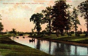Michigan Detroit Belle Isle Park Grand Canal 1906