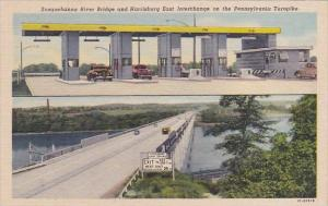 Pennsylvania Susquehanna River Bridge And Harrisburg East Interchange On The ...