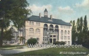 Montreal Canada, du Canada McGill College  McGill College