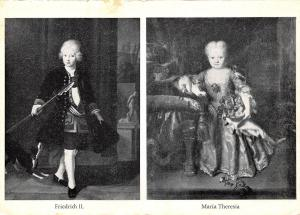 Royalty, Friedrich II, Maria Theresia, young