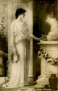 Woman -  Standing at altar