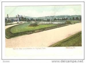 Entrance, General View, Highland Park, Pittsburg, Pennyslvania,pre-07