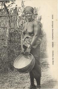 CPA Senegal Ethnic Nude Fortier - 1234. Cérére du Sine (71217)