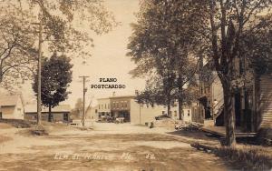 NORTH ANSON, MAINE ELM STREET-EARLY 1900'S RPPC REAL PHOTO POSTCARD