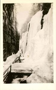 NH - Franconia Notch. The Flume in Winter    *RPPC