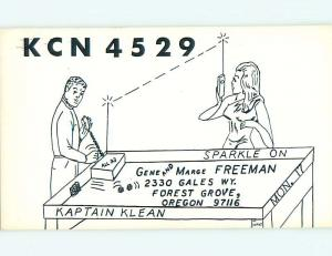 risque SEXY GIRL - QSL HAM RADIO CARD Forest Grove Oregon OR t0980