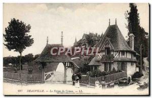Old Postcard Deauville hillside farm