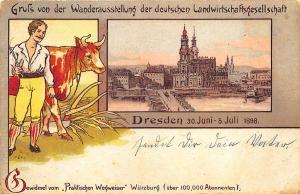 Germany Dresden 1898 Grus Aus Postcard
