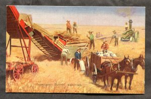 dc127 - MANITOBA c1906-10 Threshing Outfit. Farming Machines