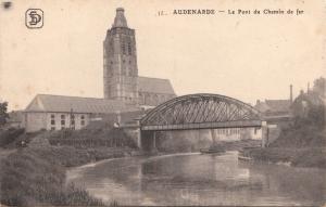 BF17486 audenarde le pont du chemin de fer belgium  front/back image