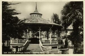 costa rica, SAN JOSE, Parque Central (1930s) RPPC
