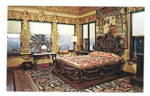 CA San Simeon Hearst Mansion Castle Cardinal Richelieu Bed Vtg Postcard