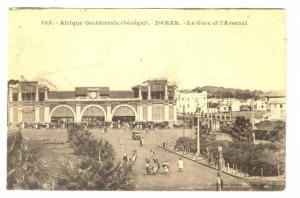 Afrique Occidentale, La Gare Et l´Arsenal, Dakar, Senegal, Africa, 1900-1910s