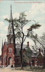 First Baptist Church , PORT HURON , Michigan , PU-1909
