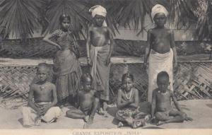 Indian Exposition Grande Exposition India Young People Postcard