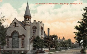 2nd Ave. and 80th Street, Bay Ridge, Brooklyn, New York, Postcard, Used in 1909