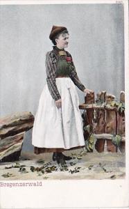 Austria Bregenz Bregenzerwald Lady In Traditional Costume
