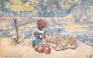 A Native Potter , India , 00-10s ; TUCK 8993