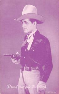 Dead Shot gets the Drop Western Actor Mutoscope Unused