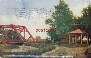 1914 ROCHESTER MN FIFTH ST BRIDGE & DRINKING FOUNTAIN to Walter Melchert