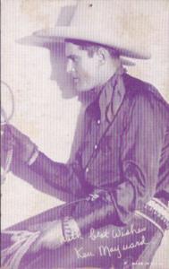 Vintage Cowboy Arcade Card Ken Maynard