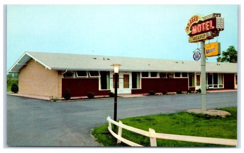 1960s Geneva Motel Best Western Hotels Il Postcard