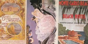 Monte Carlo 1920s Classic Car Museum Beach Hotel 3x Advertising Postcard s