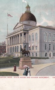 BOSTON, Massachusetts, PU-1905; State House & Hooker Monument