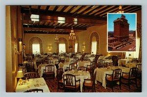 Asheville NC, Battery Park Hotel, Terrace Dining, Chrome North Carolina Postcard