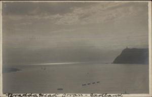 Arran Scotland Bradda Head - Lighthouse c1910 Real Photo Postcard