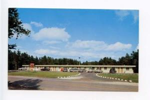 Manistique MI City Motel Old Cars Postcard