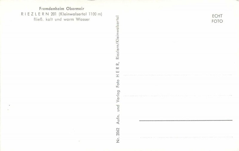 Postcard Austria Riezlern Kleinwalsertal Fremdenheim Obermeir