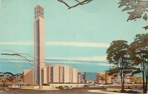 Oklahoma City OK~St Luke's Methodist Church~1966 Artist Drawing Postcard