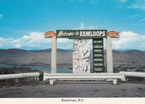 Sign , KAMLOOPS , B.C. , Canada , 50-70s