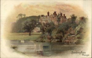 Sandringham House Early Lithograph c1900 Postcard