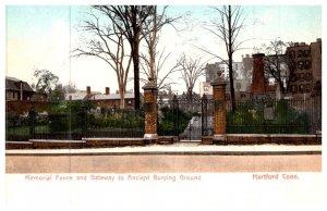 Connecticut Hartford ,  Memorial Fence and Gateway to Ancient Burying Grounds