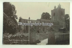 cu1974 - St. Andrew's Church from Front Gate, in Hagbourne, Berks - Postcard