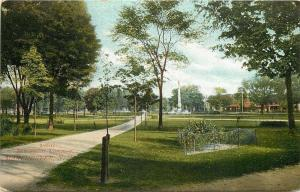 Manchester New Hampshire Common~Path to Civil War Soldiers Monument~1907 PC