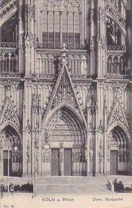 Dom, Sudportal, Koln a. Rhein (North Rhine-Westphalia), Germany, 1900-1910s