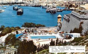 Malta St. Michael's Counterguard facing Ta-Xbiex Creek, Hotel, swimming pool
