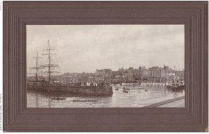 RP: BRIDLINGTON , Yorkshire , England , 1890s ; Giant Postcard of Harbor