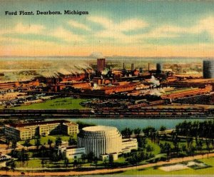 Ford Plant Dearborn Michigan aerial air view Rotunda Administration building