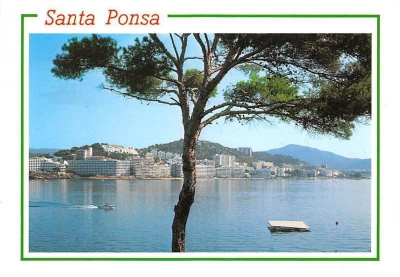 Spain Mallorca (Baleares) Santa Ponsa General view Boat