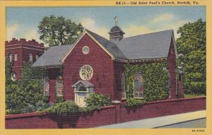 Old Saint Paul's Church Norfolk Virginia Curteich