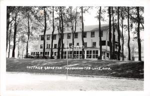 Ohio Postcard Photo RPPC 1952 MADISON-ON-THE-LAKE COTTAGE GROVE INN Lake Erie 2