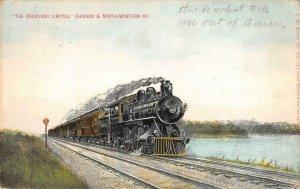 Overland Limited Chicago & North-Western Railway Train 1909 Vintage Postcard