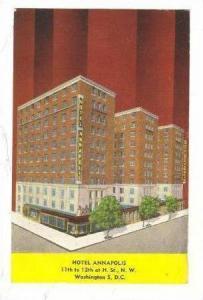 Hotel Annapolis, Washington , D.C. , PU-1948