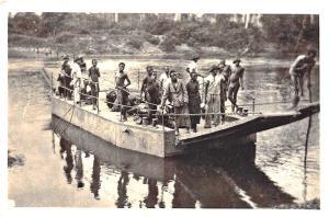 Bangui oubangui-chari Africa Barge Men RPPC Postcard