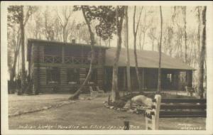 Fort Wayne IN Indian Lodge Paradise on Silver Springs Run Real Photo Postcard